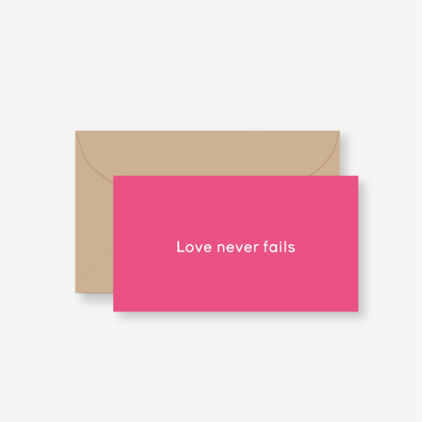 메세지카드(Love never fails)